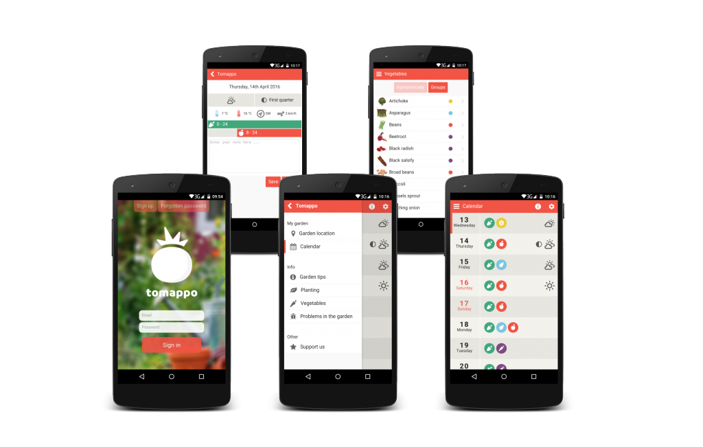 Mobile application for gardening